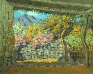 Rincón Primaveral . óleo sobre hardboard . 50x60cm . 1959