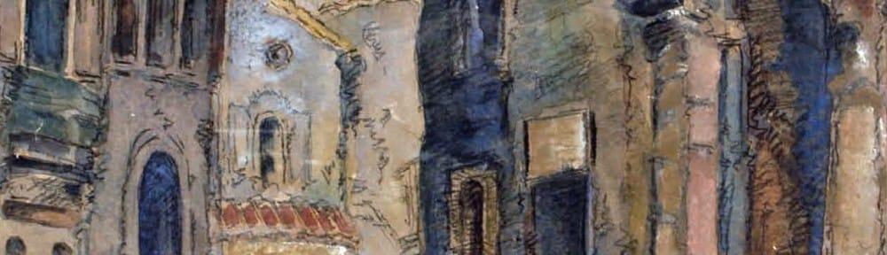 Las Chismosas . acuarela sobre papel . 44x30cm . 1930