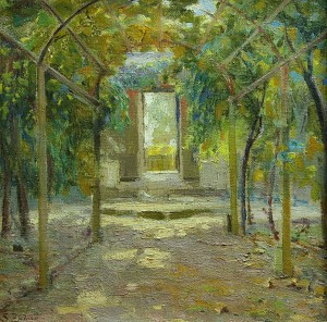 El Parral . óleo sobre lienzo . 51x51cm . 1935