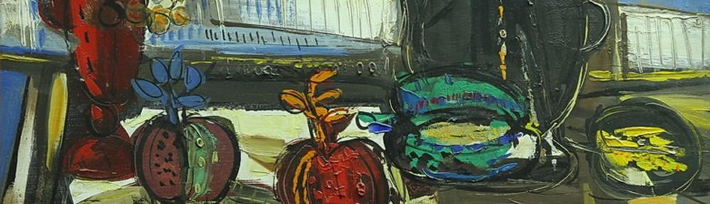 Naturaleza Muerta . óleo sobre lienzo . 40x60cm . 1986