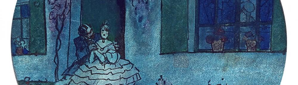 Romance . témpera sobre papel . 14x14cm . 1930