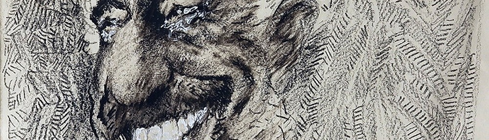 Homenaje a Raúl . carbonilla sobre papel . 30x44cm . 2003