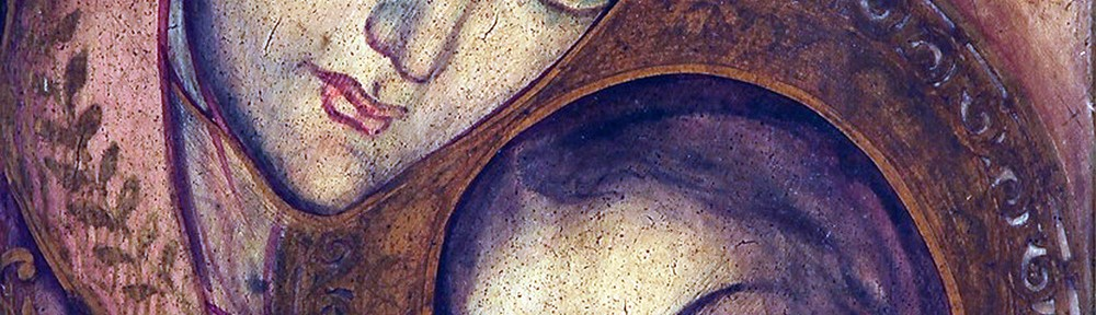 Virgen Consejera . laca sobre tabla . 37x26cm . 1954