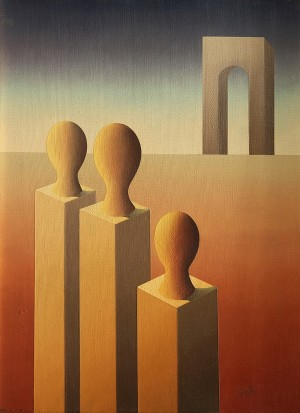 La Familia . óleo sobre lienzo . 40x30cm . 1979