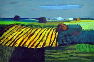 Campo Santafesino . óleo sobre lienzo . 60x90cm . 1976