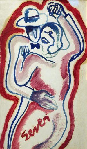Tango . óleo sobre hardboard . 50x30cm . 1980