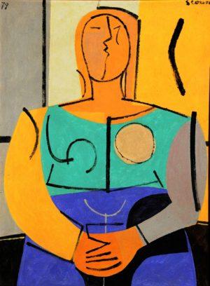 Figurade Mujer . óleo sobre lienzo . 80x60cm . 1979