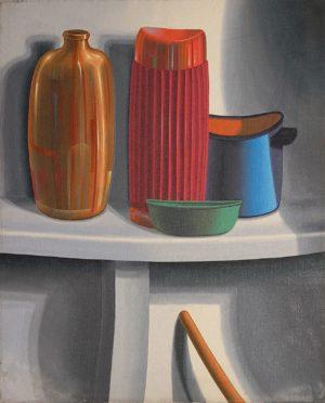 Jarros . óleo sobre lienzo . 50x40cm . 1981