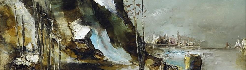 Una Cobriza Luz del Cielo . óleo sobre hardboard . 40x50cm . 1967
