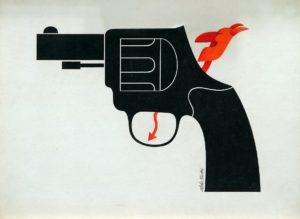 Las Armas las Carga el Diablo . tinta sobre cartón . 29x39cm . 1977