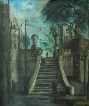 Anchorena y Guido . óleo sobre lienzo . 75x65cm . 1946