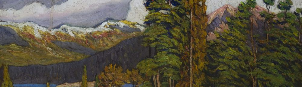 Junto al lago - Oleo sobre tabla - 51 cm x 60 cm - Año 1929