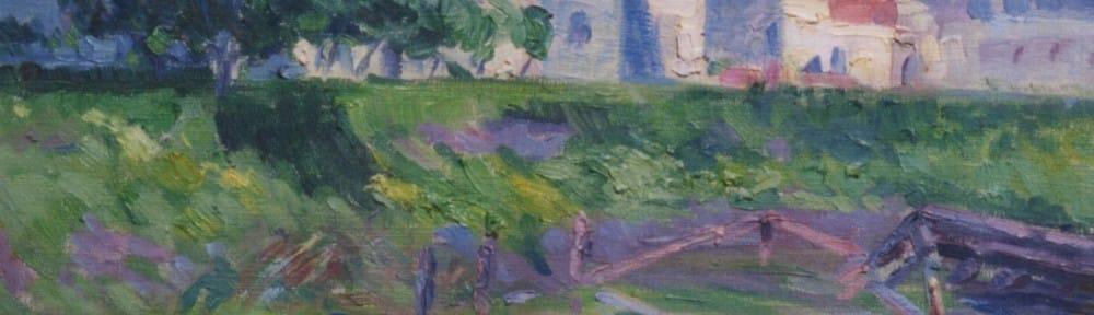 Impresión del Riachuelo . óleo sobre lienzo . 26x33cm . 1925