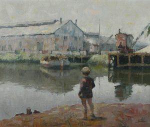 """Paisaje del Río"" . óleo sobre lienzo . 50x60 cm . 1974"