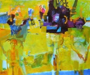 Muro Amarillo . óleo sobre lienzo . 160x190 cm . 2013