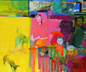 Algun día . óleo sobre lienzo . 160x190 cm . 2013