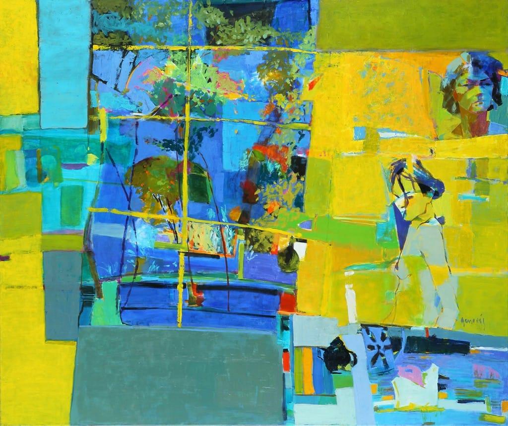 Taller amarillo . óleo sobre lienzo . 160x190 cm . 2014