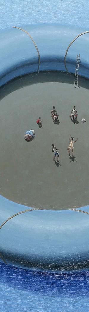 Gomón III . óleo sobre lienzo . 120x150cm . 2014