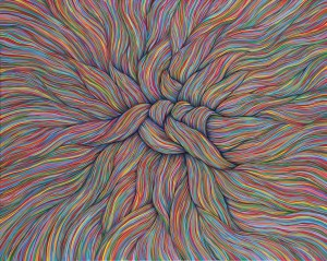 Enredo . acrílico sobre lienoz . 120x150cm . 2014