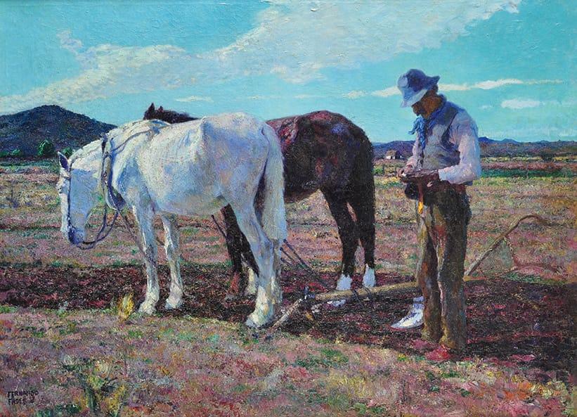 Fader Fernando . Tierra Mansa . óleo sobre lienzo . 110x150cm . 1919