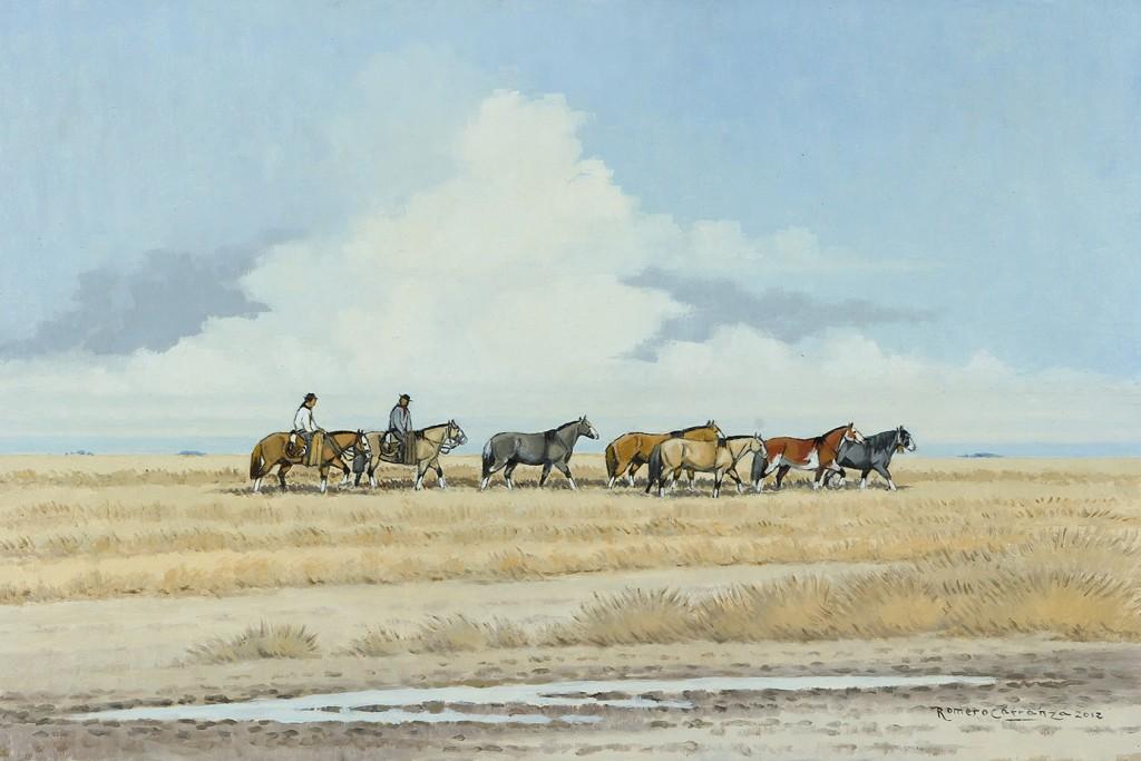 Volviendo a las Casas . óleo sobre lienzo . 40x60cm . 2012