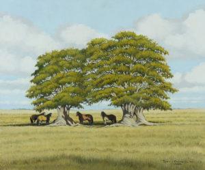 Los Dos Ombúes . óleo sobre lienzo . 50x60cm . 2012