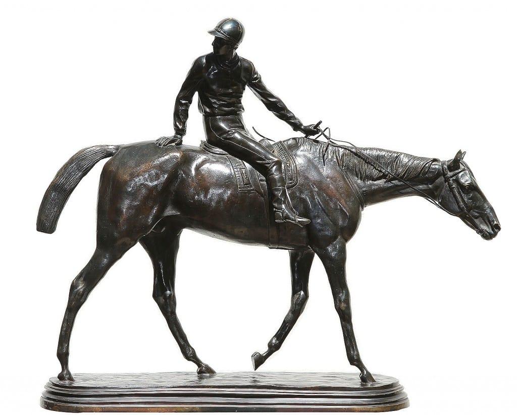 Maravillosa escultura de Bonheur en la sala de Zurbarán