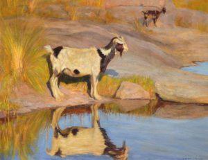 Junto al Arroyo . óleo sobre lienzo . 75x95cm . 1940