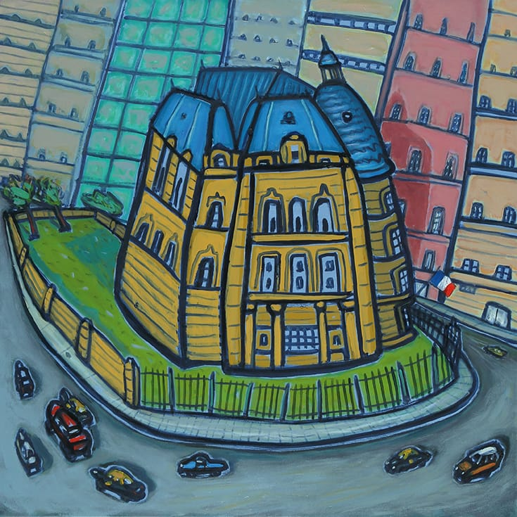 Embajada . óleo sobre lienzo . 80x80cm . 2014