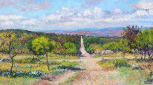 """El Cruce"", óleo sobre lienzo, 50x90 cm, 2014"