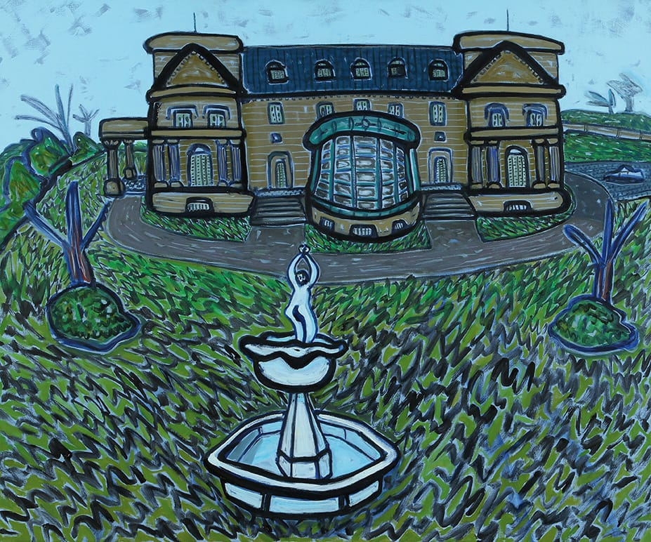 Palacio Sans Souci, Victoria . óleo sobre lienzo . 100x120cm . 2014