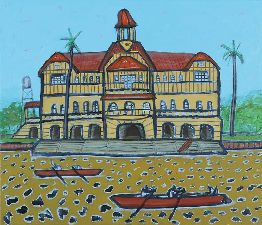 Club de Regatas La Marina . óleo sobre lienzo . 60x70cm . 2014