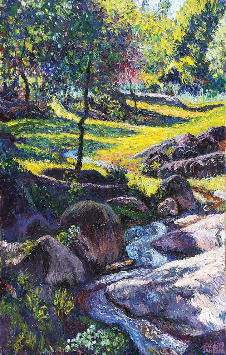 """""""Arroyito Tulumbano"""", óleo sobre lienzo, 80x50 cm, 2014"""