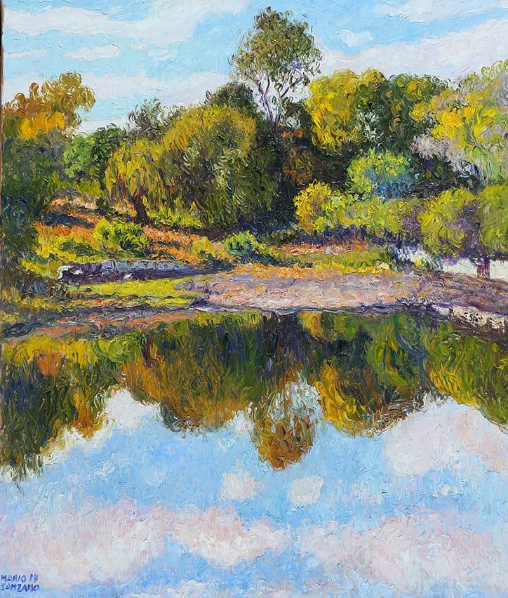 """""""Reflejos"""", óleo sobre lienzo, 70x60 cm, 2014"""
