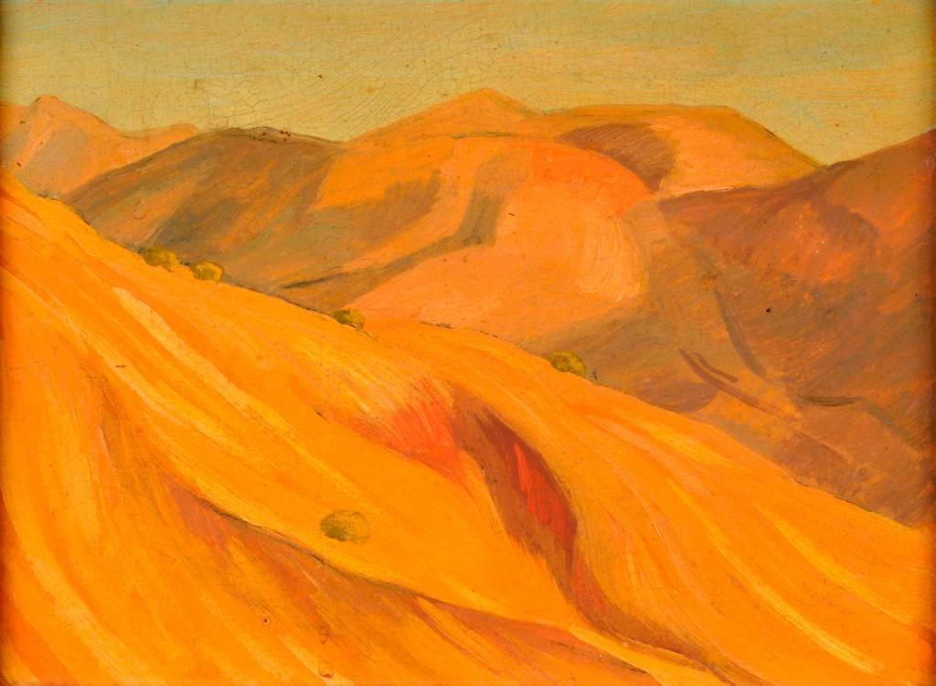 Emilio Pettoruti . Paisaje, Alemania . óleo sobre cartón . 19x25cm .óleo sobra cartón . 1930