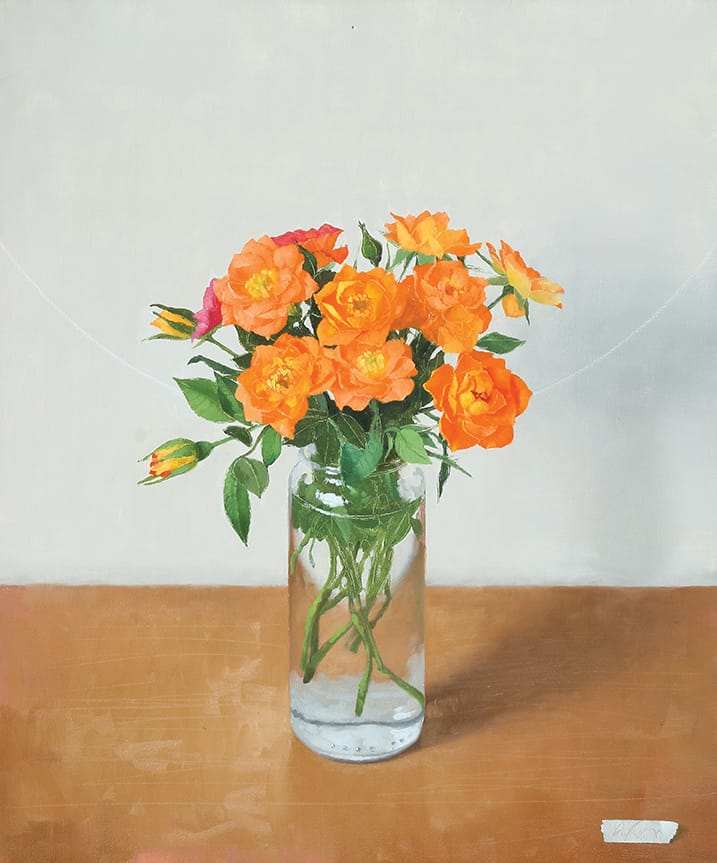 Naranja en flor óleo sobre lienzo 60x50cm 2015
