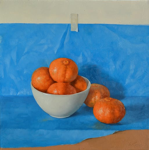 Azul y naranja