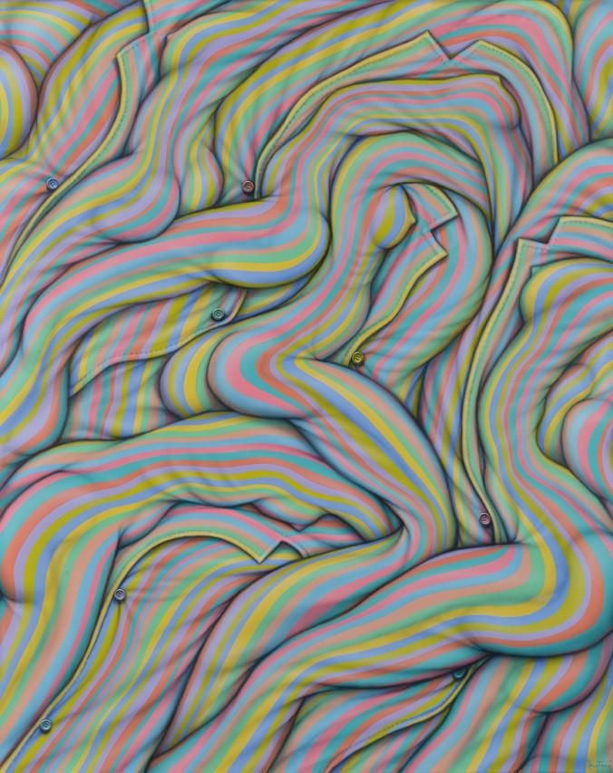 Estirando las Horas . acrílico sobre lienzo . 150x120cm . 2015