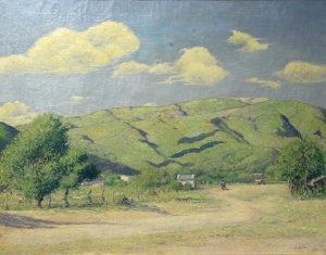 Mañana Otoñal . óleo sobre lienzo . 67x85cm . 1925