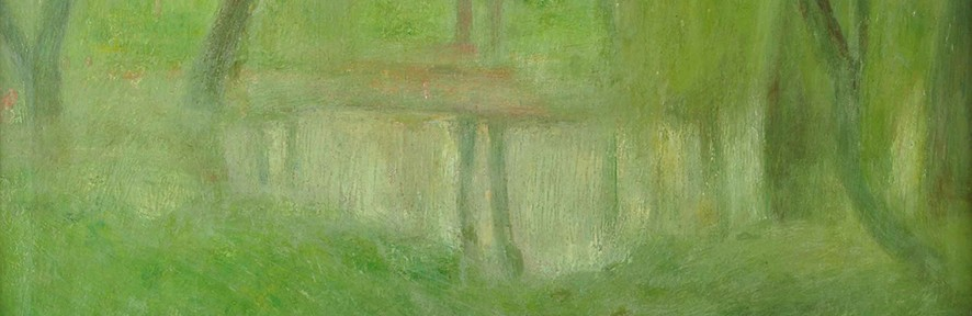 Laguna de Palermo . óleo sobre lienzo . 62x74cm . 1912