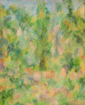 El Bosque . óleo sobre aglomerado . 62x50cm . 1972