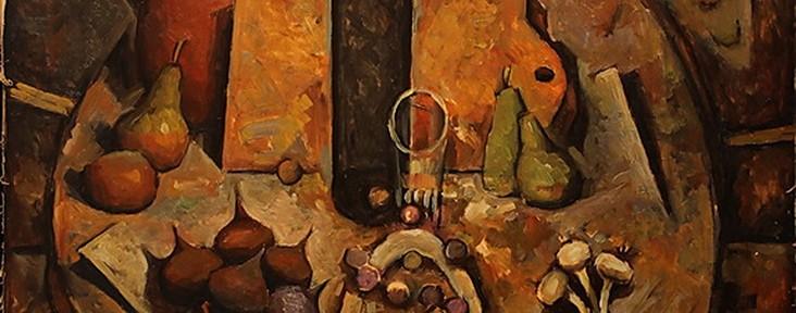 La Mesa . óleo sobre cartón . 100x80cm . 1998