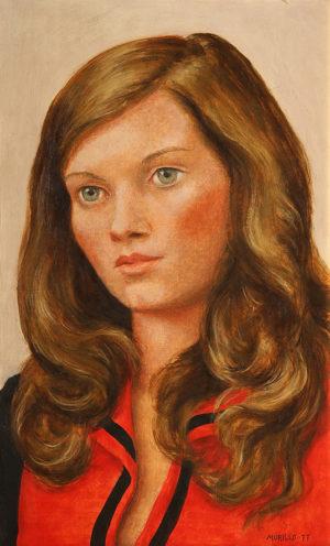 Joven . óleo sobre table . 55x35cm . 1977