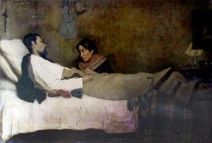 En Tiempos de Paz . óleo sobre lienzo . 120x177cm . 1890