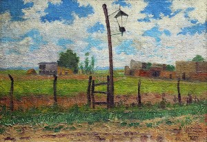 El Farol . óleo sobre lienzo . 44x64cm . 1928