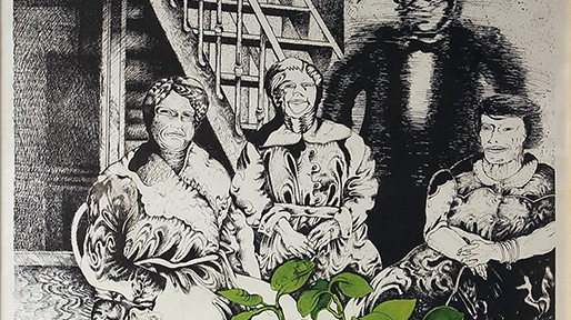 El Trío Movido . serigrafía . 74x54cm . 1976