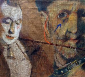 Rembrandt nos Mira . técnica mixta . 56x60cm . 1980