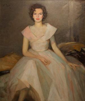 Dama . óleo sobre lienzo . 122x97cm . 1950