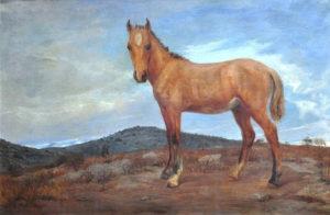 Potrillo Gateado . óleo sobre lienzo . 132x195cm . 1923