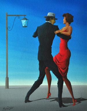Figura de Tango . acrílico sobre cartón . 50x40cm . 1985